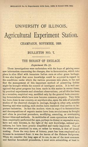 The biology of ensilage by Thomas Jonathan Burrill