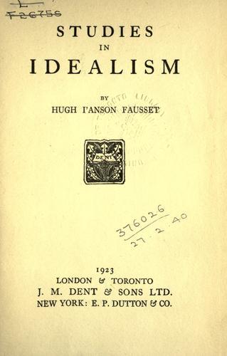 Studies in idealism.