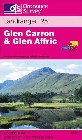 Glen Carron and Glen Affric (Landranger Maps)