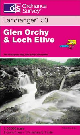 Glen Orchy and Loch Etive (Landranger Maps)