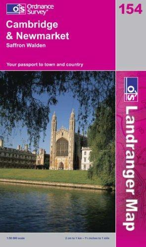 Cambridge and Newmarket, Saffron Walden (Landranger Maps)