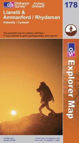 Llanelli and Ammanford/Rhydaman (Explorer Maps)
