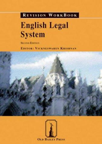 English Legal System Revision Workbook by Vickneswaren Krishnan