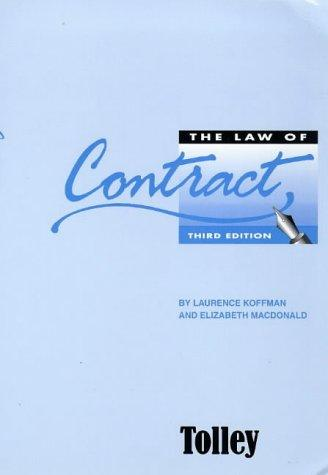 The Law of Contract by Elizabeth MacDonald