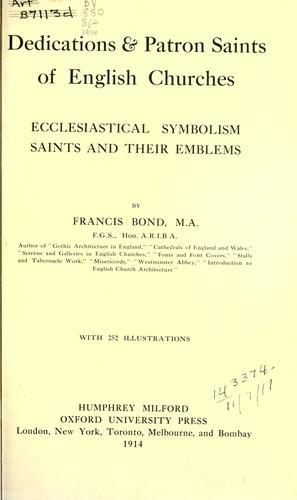 Dedications & patron saints of English churches