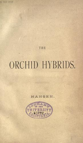 The orchid hybrids by