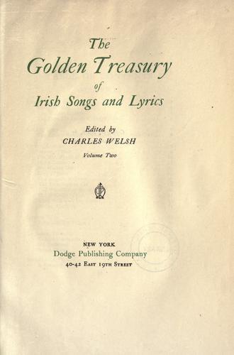 The Golden treasury of Irish songs and lyrics