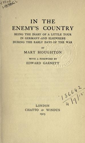 In the enemy's country by Mary Houghton