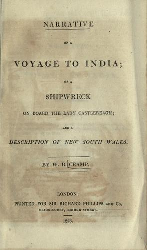 Narrative of a voyage to India