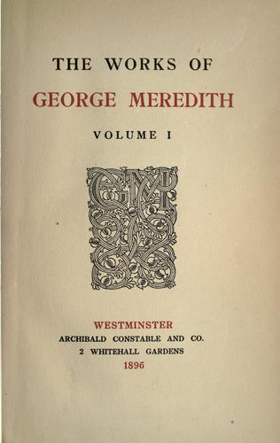 The works of George Meredith by George Meredith