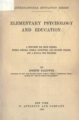 Elementary psychology and education.