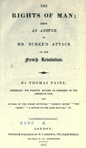 The rights of man ... by Thomas Paine