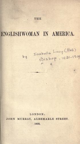 The Englishwoman in America.
