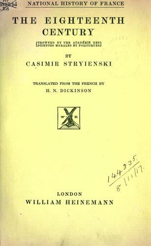 The eighteenth century by Stryienski, Casimir