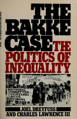 The Bakke case by Joel Dreyfuss