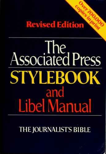 The Associated Press stylebook and libel manual by