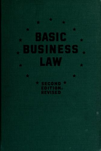 Basic business law by Abraham Lincoln Lavine