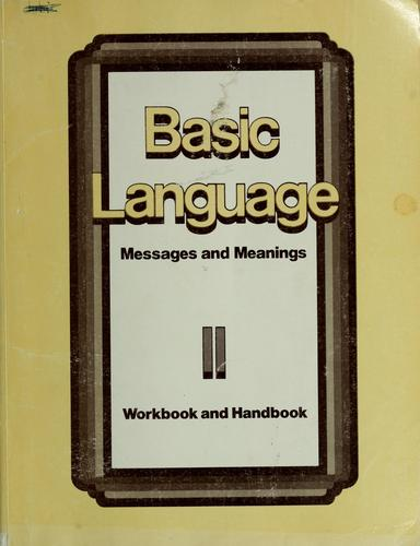 Basic language messages and meanings by
