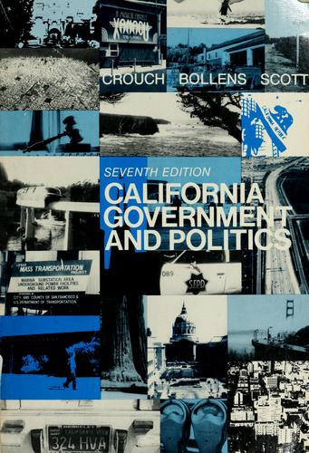 California government and politics by Winston Winford Crouch