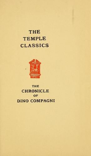 The chronicle of Dino Compagni by Dino Compagni